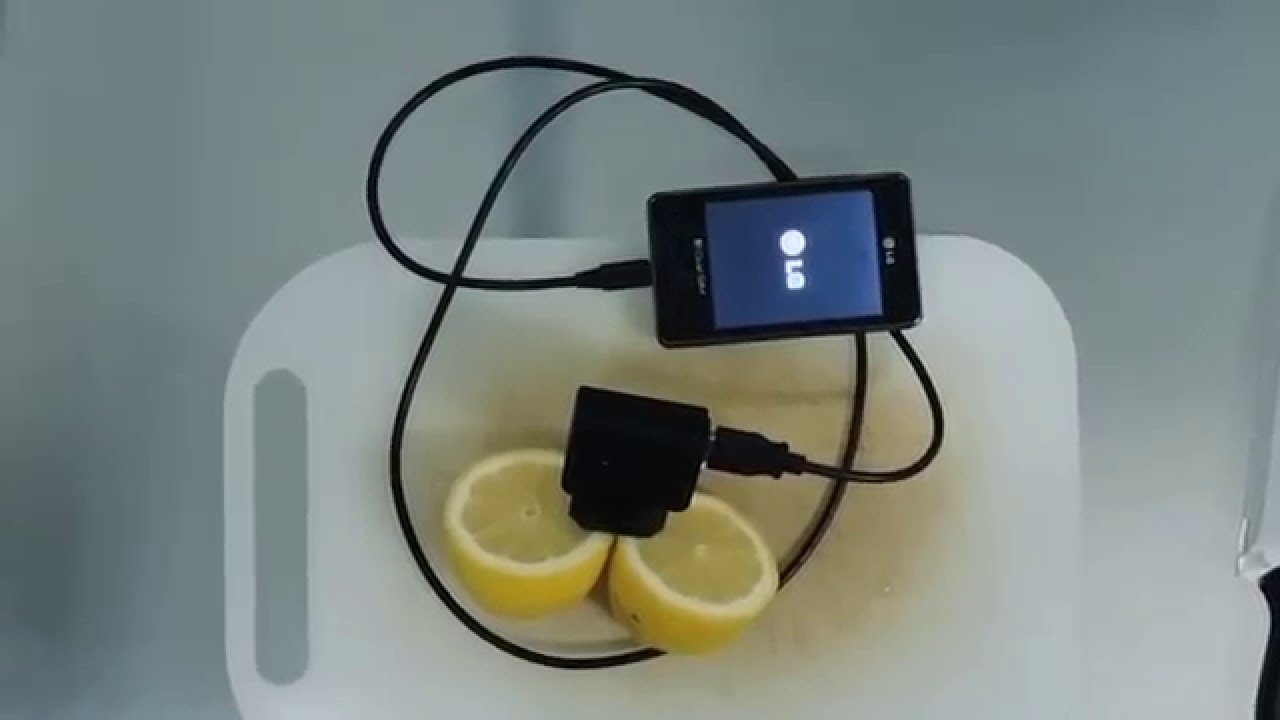 Amazing: how to charge your cell phone with a lemon