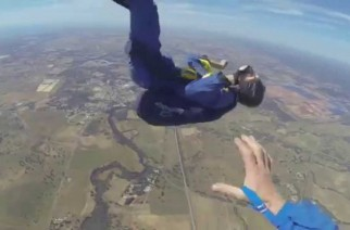 Man suffers an epileptic seizure while skydiving